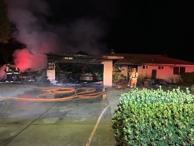 Improperly discarded hot ashes were blamed for starting a fire  that caused about $100,000 damage to a home in Palo Cedro early Monday morning, according to state fire officials.
