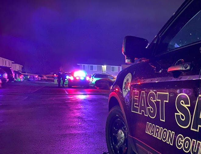 One person was taken to the hospital following a shooting on Cheryl Lynn Way NE Monday evening.