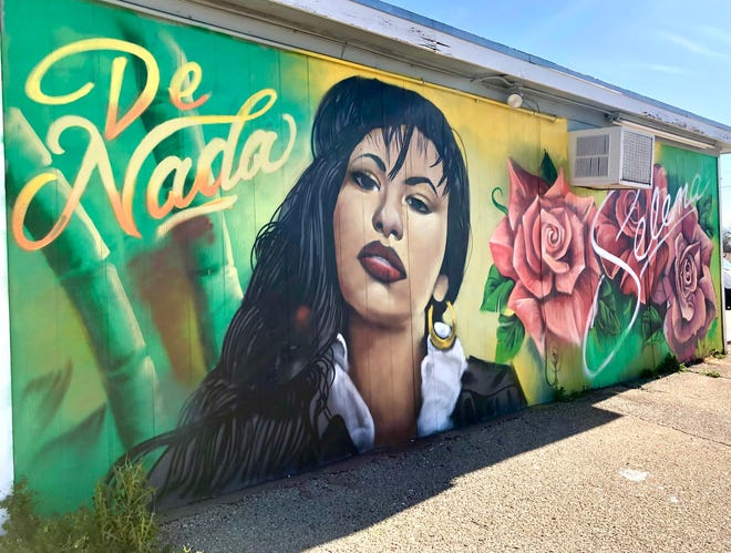 De Nada moved locations to 3038 W. Beauregard Avenue in October 2020 and asked Davila to brighten up the outside of the new shop with a mural of Selena.