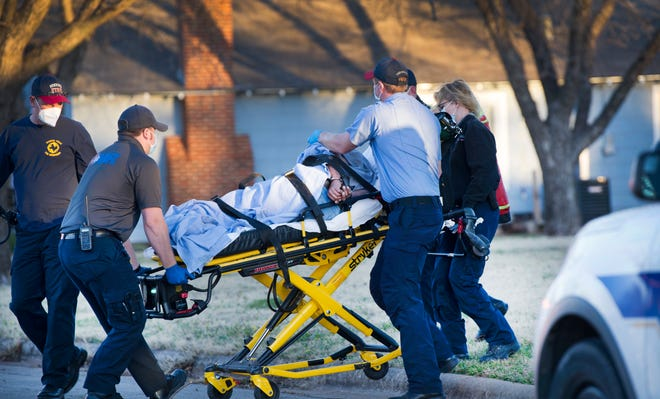 An alleged assault suspect is taken to the hospital after complaining of chest pains.