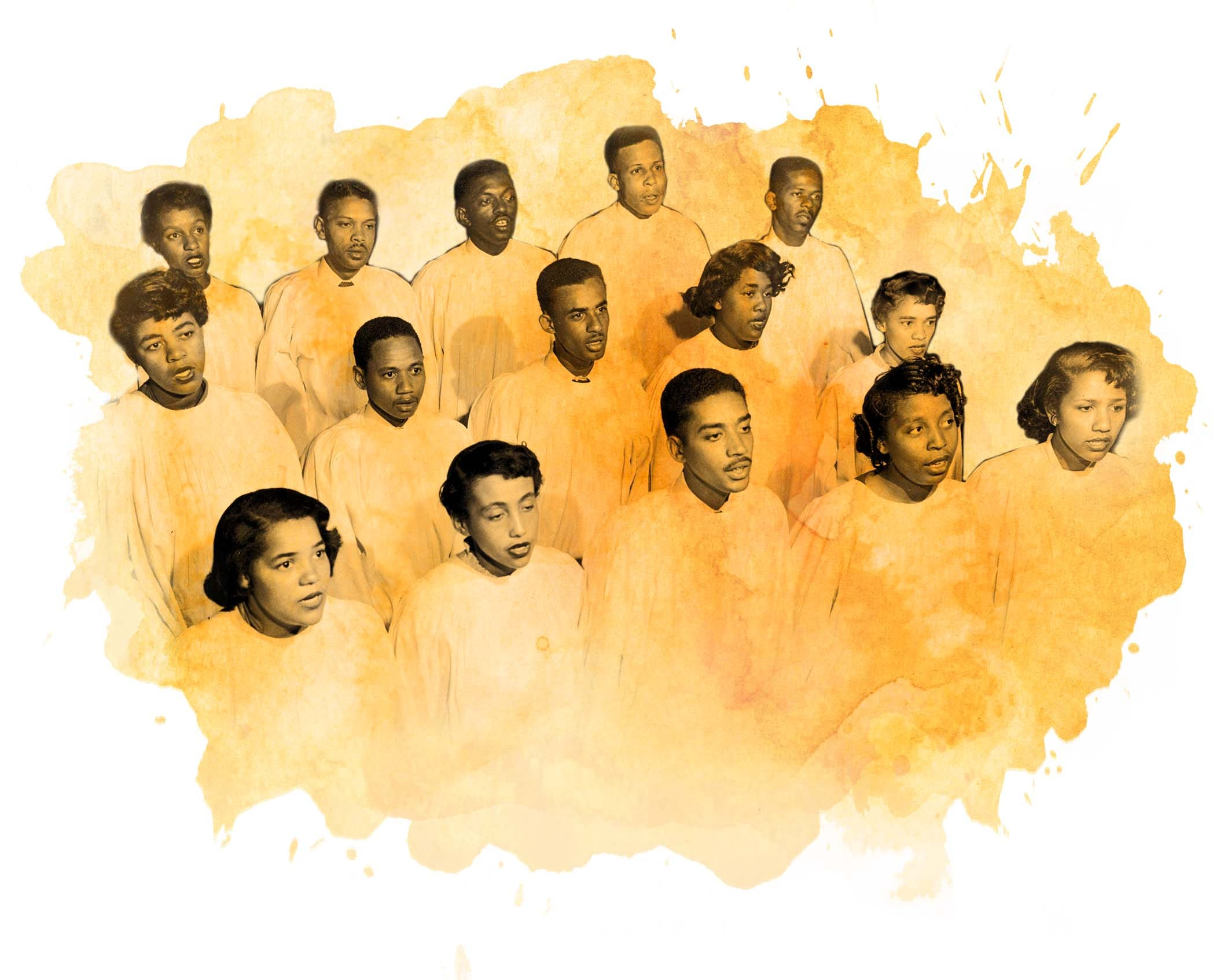 The famed Jubilee Singers of Fisk University rehearse May 10, 1952, for an upcoming concert.