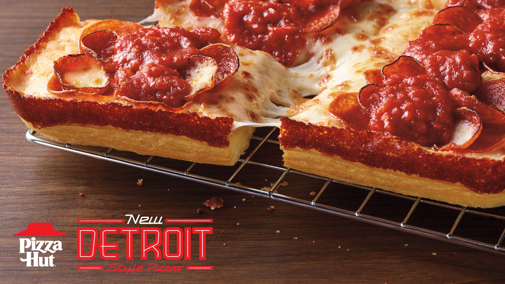 Pizza Hut releases new Detroit-Style Pizza nationwide in four varieties including Double Pepperoni