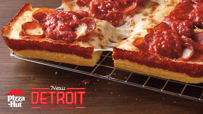 Pizza Hut's Detroit-Style pizza is available for a limited time.