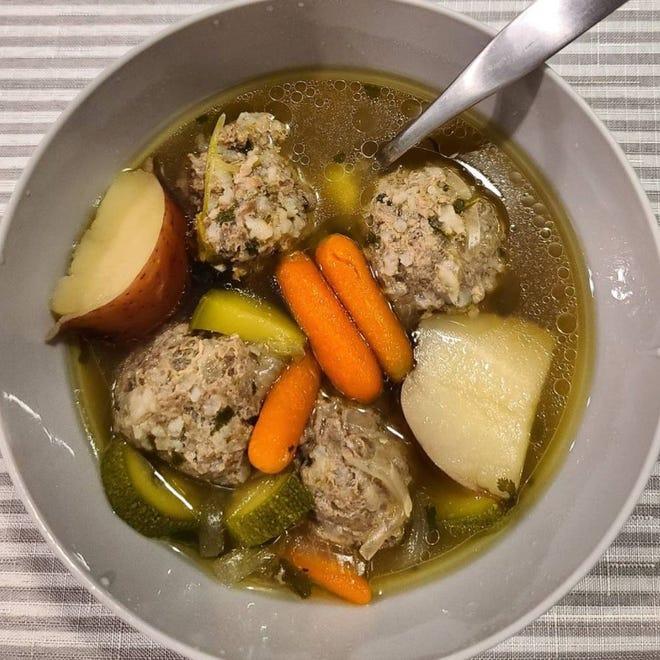 Beverly Acosta made this sopa de albondigas for her family recently.