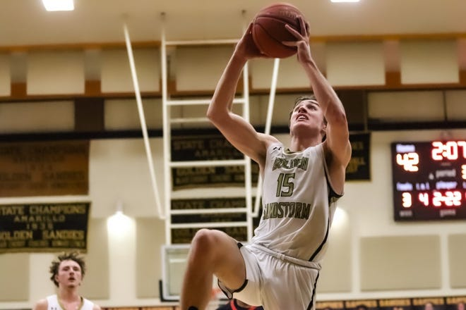 Brendan Hausen, who recently became the all-time scorer for Amarillo High, scored 11 points for the Sandies in Friday's contest against Caprock.