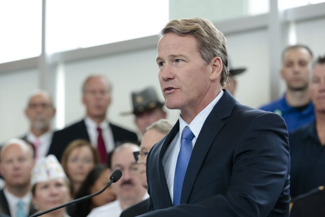 Ohio Lt. Gov. Jon Husted, pictured at the Ohio Department of Public Safety in October 2019, announced the state is recommending the legislature allocate $290 million in broadband expansion toward the 2022-2023 state budget. [Joshua A. Bickel/Dispatch]