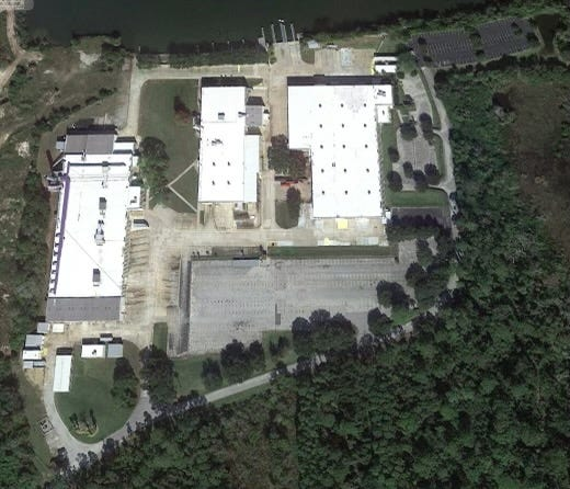 This is an aerial view of the ex-Sea Ray Boats plant along the Matanzas River in Flagler County. Brunswick Corp., which owns the property, closed the plant in 2018. It announced plans on Jan. 25, 2021, to reopen it as a production facility for its Edgewater-based Boston Whaler division. The plant is expected to begin operations by year's end. It is off Roberts Road, just north of State Road 100.