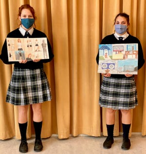 Honorable Mention winners Evangeline Wicks and Giusy Zappulo.