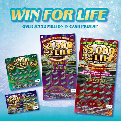 The Florida Lottery offers a line of win-for-life scratch-off games