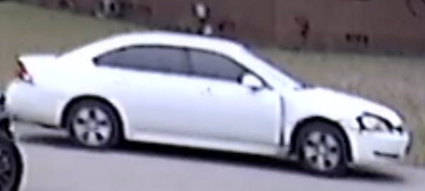 This white Chevrolet Impala is being sought by the Jacksonville Sheriff's Office in connection with a Jan. 21 homicide.