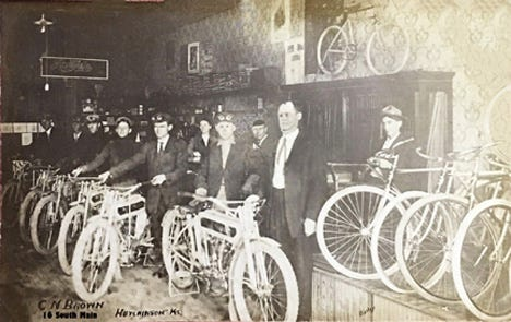 In 1914, Charles N. Brown expanded into 18 So. Main and changed the name to the C.N. Brown Cycle Co.