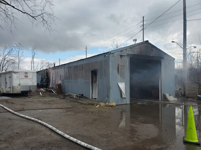 City firefighters were called to MWG Services, 1944 Eighth St. SW, after the metal building caught fire.