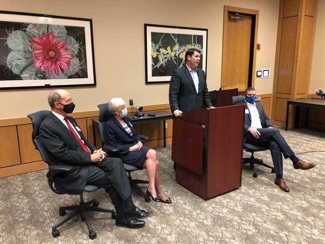 Rep. Jodey Arrington hosted a news conference on Tuesday with leaders of Covenant Health.