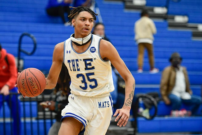 Estacado's Kiante Williams, shown here in a victory Tuesday against Snyder, was one of four double-digit scorers Friday night who helped the seventh-ranked Matadors beat Sweetwater 85-30.
