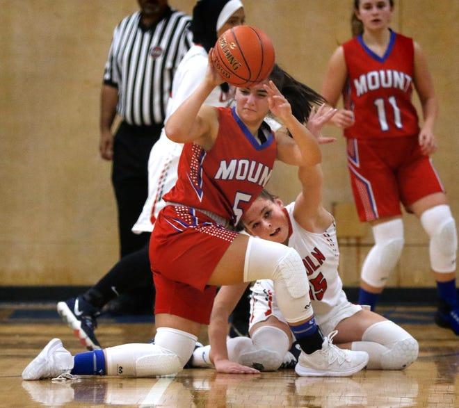 Talia Fernandes (shown in action from last season) had a solid night Tuesday, leading the Mount St. Charles girls basketball team to a win over North Providence.