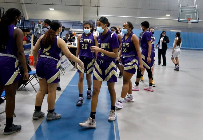 After every game this season, the St. Raphael girls basketball team has walked off victorious. Will the Saints be able to do the same Sunday playing Barrington in the D-I final?