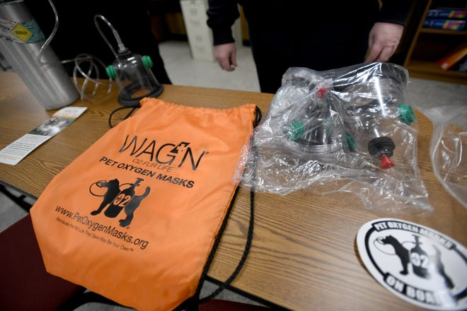 The Uniontown Fire Department has purchased WAG'N O2 Fur Life Pet Oxygen Masks and have them equipped on their trucks. The equipment is shown here on Jan. 27.