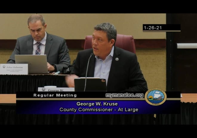 Manatee County Commissioner George Kruse is one of three new commissioners who ordered expensive new office furniture.