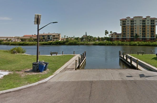 The Marina Park boat ramp in Venice in an undated Google photo.