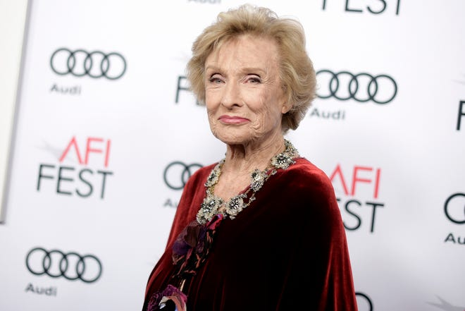 "Cloris Leachman attends the premiere of ""The Comedian"" during the 2016 AFI Fest in Los Angeles."