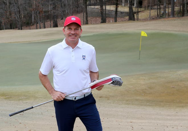 Andy Turner is the new golf coach for American Christian Academy. He is photographed at NorthRiver Yacht Club's golf course Monday, Jan. 25, 2001.[Staff Photo/Gary Cosby Jr.]