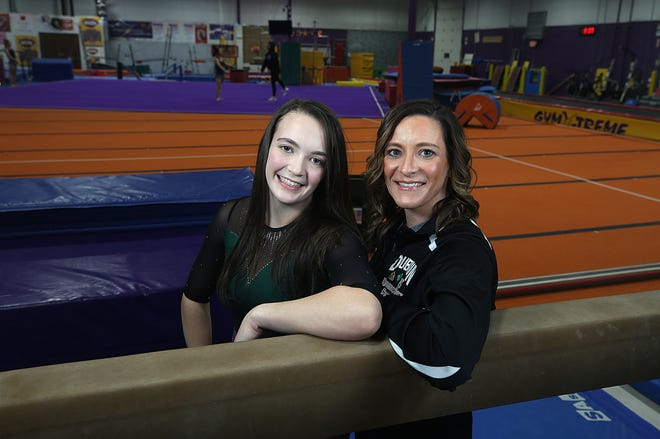"Jerome senior Izzy Willms and her sister, coach Kristen Willms, helped the Celtics reach the state meet in each of the past two seasons. ""We've kind of got (gymnastics) in the blood,"" Kristen said."