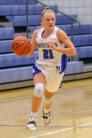 Kilbourne guard Lauren Scott reached 1,000 career points during a 50-38 victory over Logan on Jan. 27. She was the third Wolves girls basketball player to achieve the milestone and the first to do it as a junior.