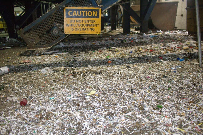 Shredded paper no longer is accepted by the Tri-County Recycling Facility in Little Chute because it's difficult to separate from other recyclables and clogs equipment.