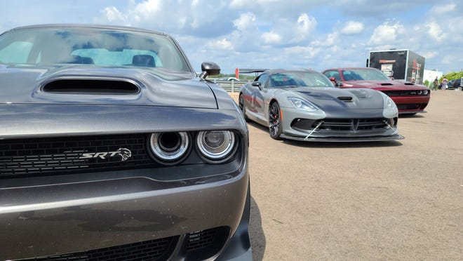 Motown muscle. Dodge Hellcats and Vipers are among the machinery that drivers can learn on at M1 Concourse.