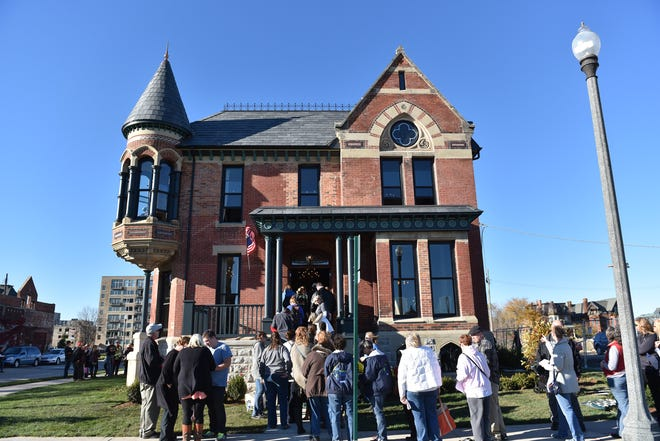 Curtis worked with Dan Gilbert's Bedrock team to restore the iconic Ransom Gillis house in 2015 in Detroit's Brush Park neighborhood.