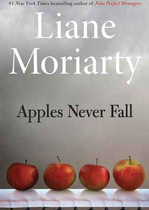 "The cover of Liane Moriarty's ""Apples Never Fall."""