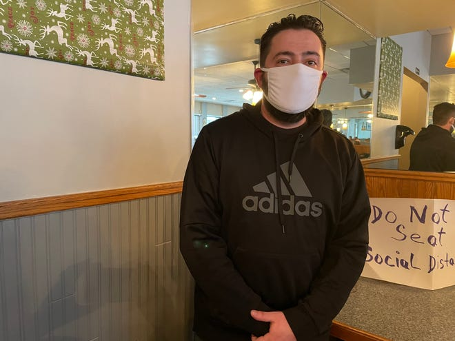 Sunrise Family Diner owner David Koloski allows indoor dining at his Howell restaurant, Tuesday, Jan. 26, 2021, despite an order to cease and desist.