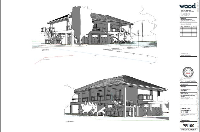 Renderings of the Caxambas Park community center