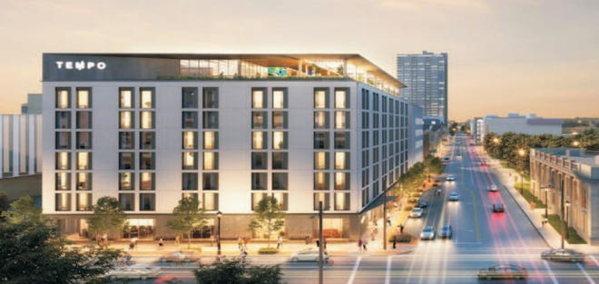 An eight-story, 155-room Tempo by Hilton hotel could be coming to the northwest corner of North Old World Third Street and West Kilbourn Avenue.