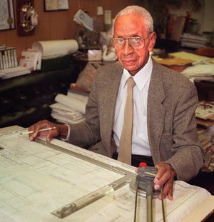Alonzo Robinson, president of Alonzo Robinson & Sons Architects, in 1998. He became the state's first Black architect when he came to Wisconsin in 1954.