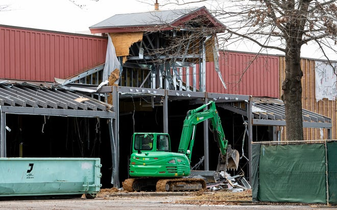 Demolition and renovation work continues on the grocery store location at EastChase in Montgomery, Ala., on Wednesday January 27, 2021.