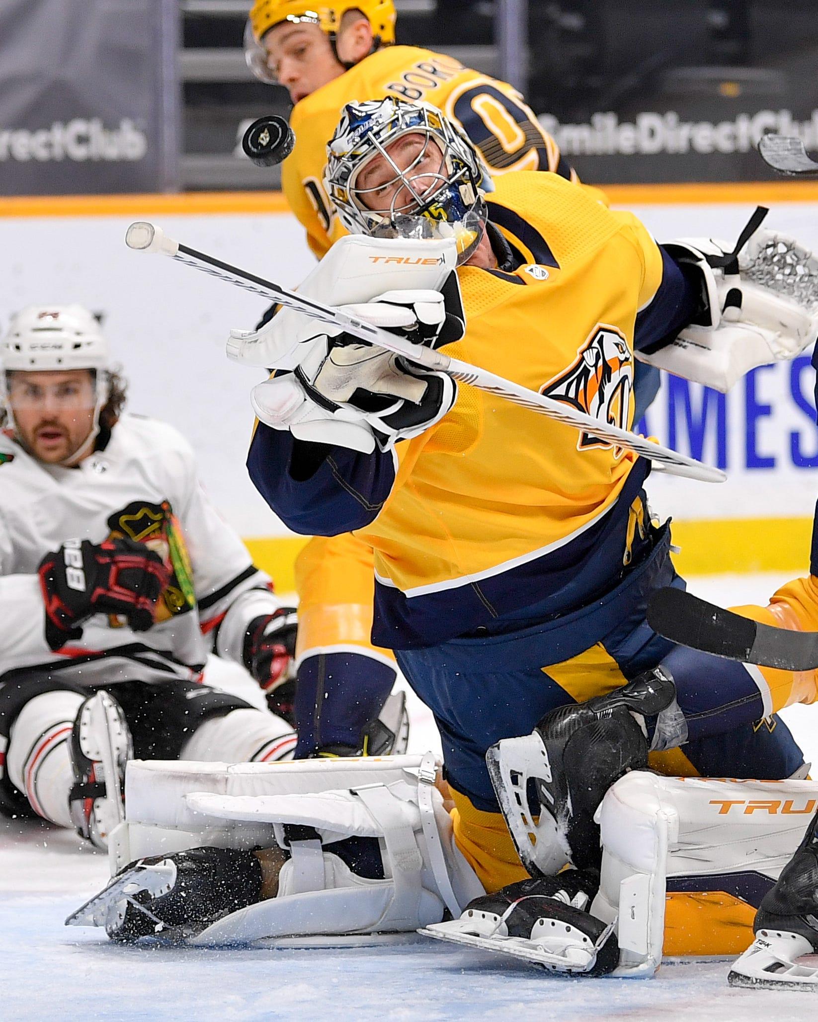 Nashville Predators goalie Pekka Rinne talks trade rumors, struggles