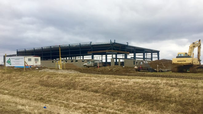 Meyer Shank Racing Inc.'s new headquarters currently under construction at the corner of Etna Parkway and Refugee Road, is the first enterprise to locate within the Pataskala Corporate Park.