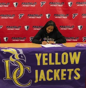 Livonia Franklin senior volleyball player Jamia Murray signs to play at Defiance College next year.