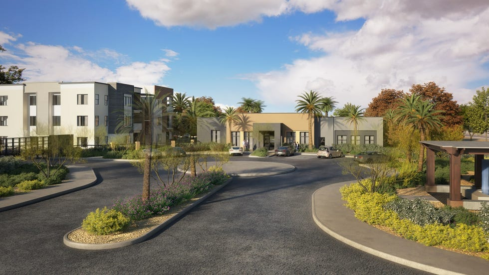 Peoria could see new luxury apartments, rendered here, off Lake Pleasant Parkway and Deer Valley Road.