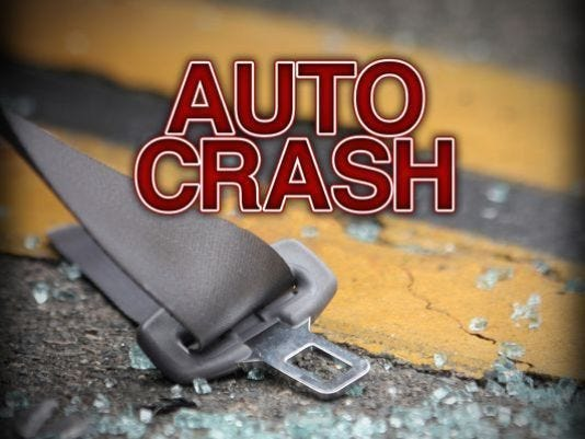 Two area men were injured in a single vehicle crash in Perkins Township on Tuesday night.