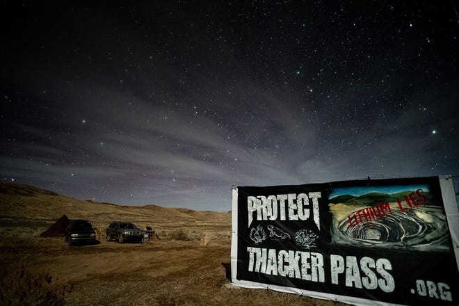 Will Falk and Max Wilbert are camped at Thacker Pass to protest development of an open-pit lithium mine at the site.