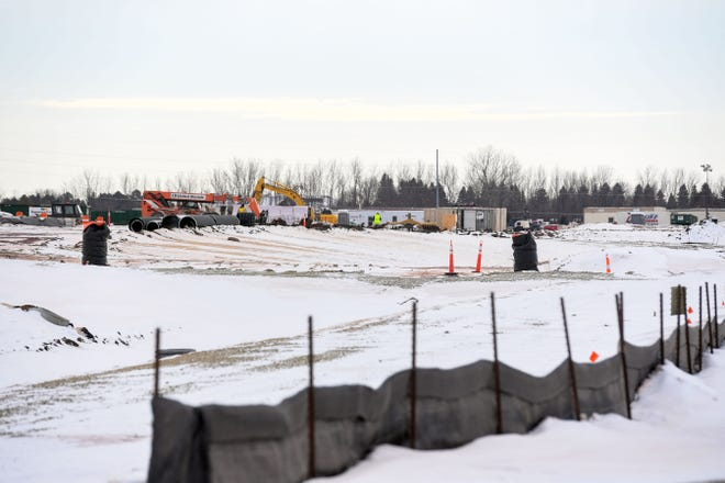 Construction begins on Wednesday, Jan. 27, at Foundation Park in northwestern Sioux Falls.