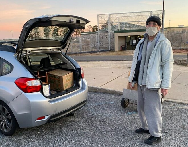 John Knock leaves the Federal Correctional Institution, Fairmont in New Jersey after having his sentence commuted by former President Donald Trump.