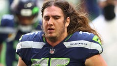 Offensive tackle Chad Wheeler is no longer with the team, the Seattle Seahawks said.