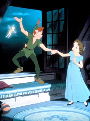 "A scene from the 1953 animated movie ""Peter Pan."""