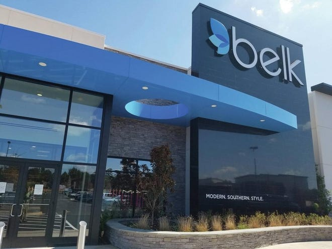 The Belk department store in Evans, in the Mullins Colony shopping center, opened in October 2017.