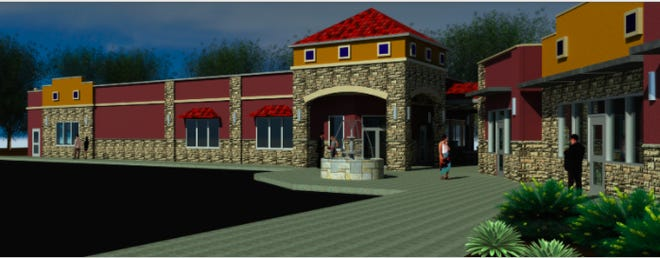 Rendering of the new Luigi's Italian Restaurant location.