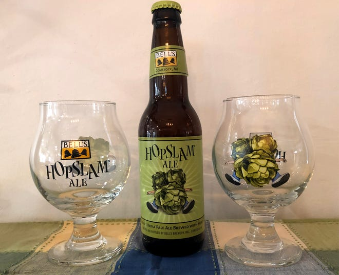 I was so outraged by Hopslam's $17.99 price point that I bought two Hopslam glasses from the Bell's Brewing website.