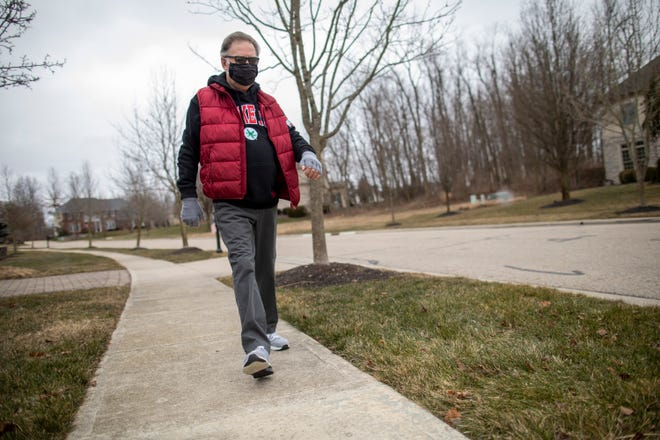 Edward Cleland, 73, of Dublin, walks at least a mile a day, either through his neighborhood or inside on a treadmill when it gets too cold, to maintain his heart health after having quadruple bypass heart surgery in October.